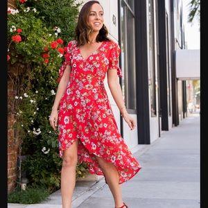 Stunning F21 Floral Wrap Dress - Like new!!